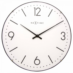 Zegar ścienny Basic Dome, biały - NEXTIME