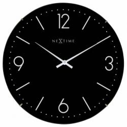 Zegar ścienny Basic Dome, czarny - NEXTIME
