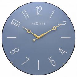 Zegar ścienny Trendy Dome, niebieski - NEXTIME