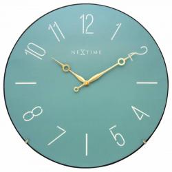 Zegar ścienny Trendy Dome, turkusowy - NEXTIME