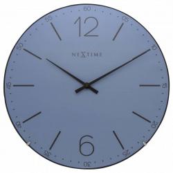 Zegar ścienny Index Dome, niebieski - NEXTIME