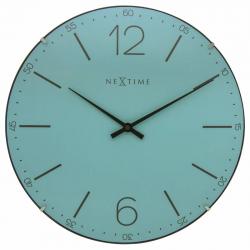 Zegar ścienny Index Dome, turkusowy - NEXTIME
