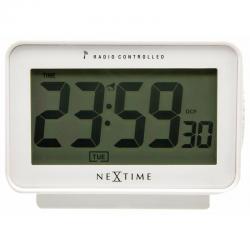 Zegar biurkowy Easy Alarm Radiocontrolled White - NEXTIME
