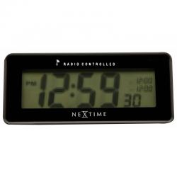 Zegar biurkowy Lean Alarm Radio Controlled Black - NEXTIME
