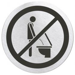Szyld informacyjny Signo do toalety, stal matowa, 8 cm - BLOMUS