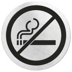 Szyld informacyjny Signo - zakaz palenia, stal matowa, 8 cm - BLOMUS