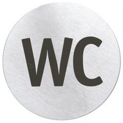 Szyld informacyjny Signo - WC, stal matowa, 8 cm - BLOMUS