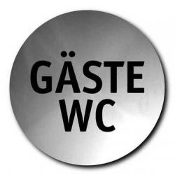 Szyld informacyjny Signo - Gäste WC, stal matowa, 8 cm - BLOMUS