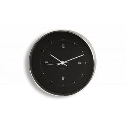 Zegar ścienny Tempus, 25 cm, czarny - PHILIPPI