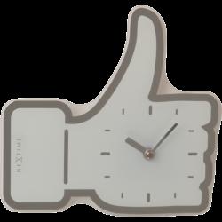 Zegar ścienny/biurkowy Mini Thumbs Up White (21 cm) - NEXTIME