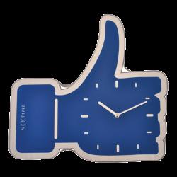 Zegar ścienny/biurkowy Mini Thumbs Up Blue (21 cm) - NEXTIME
