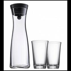 Karafka do wody BASIC 1l czarny korek + 2 szklanki - WMF