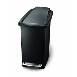 Kosz na śmieci 10L pedałowy SLIM - czarny - Simplehuman