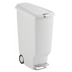 Kosz na śmieci 40L pedałowy SLIM - biały - Simplehuman