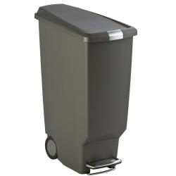 Kosz na śmieci 40L pedałowy SLIM - szary - Simplehuman