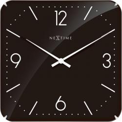 Zegar ścienny Basic Square Dome, 35 cm, czarny - NEXTIME