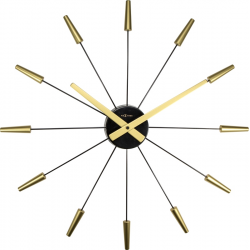 Zegar ścienny Plug Inn Gold - NEXTIME