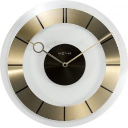 Zegar ścienny Retro, 31 cm, złoty - NEXTIME