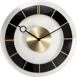 Zegar ścienny Retro, 31 cm, czarny - NEXTIME
