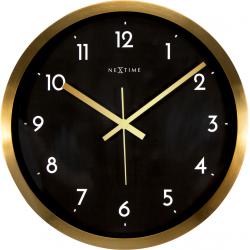 Zegar ścienny Arabic, czarno-złoty, 44 cm - NEXTIME