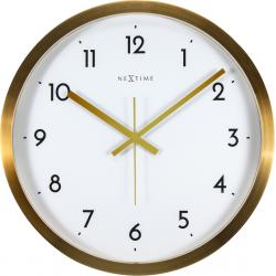 Zegar ścienny Arabic, biało-złoty, 44 cm - NEXTIME