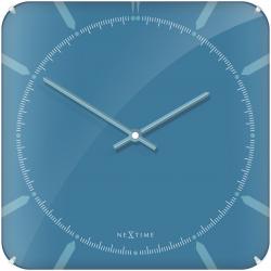Zegar ścienny Michael Square Dome, 35 cm, niebieski - NEXTIME