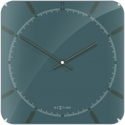 Zegar ścienny Michael Square Dome, 35 cm, szary - NEXTIME