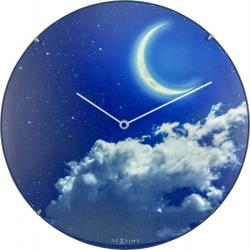 Zegar ścienny New Moon Dome, 35 cm - NEXTIME