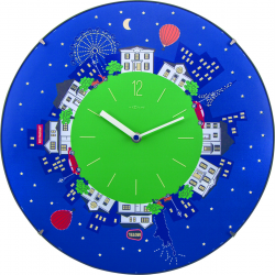 Zegar ścienny Little Planet Dome, 35 cm - NEXTIME