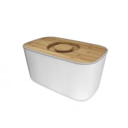 Chlebak z bambusową deską, biały - Joseph Joseph
