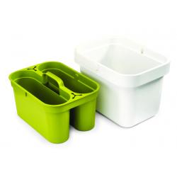 Wiaderko gospodarcze Clean&Store, biało-zielone - Joseph Joseph