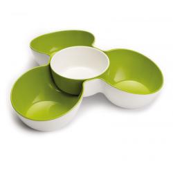 Zestaw misek do przekąsek, biało - zielony - Joseph Joseph