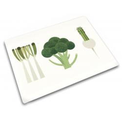Podkładka szklana 30x40, Vegetable Set cm - Joseph Joseph