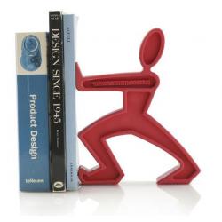 Podpórka do książek JAMES, czerwona - BLACK+BLUM
