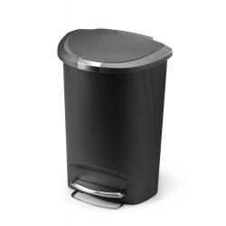 Kosz na śmieci 50L pedałowy półokrągły - szary - Simplehuman