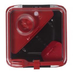 Lunch box BOX APPETITE czarno-czerwony - BLACK+BLUM