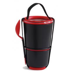 Pojemnik LUNCH POT czarno-czerwony - BLACK+BLUM