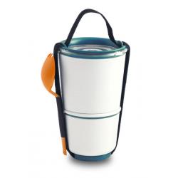 Pojemnik LUNCH POT, pomarańczowo-niebieski - BLACK+BLUM
