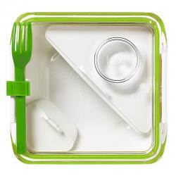 Lunch box BOX APPETIT zielono-biały - BLACK+BLUM