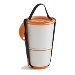 Pojemnik LUNCH POT, biało-pomarańczowy - BLACK+BLUM