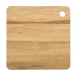 Deska drewniana dębowa kwadratowa 27x27cm - HPBA