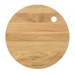 Deska drewniana dębowa okrągła 27cm - HPBA