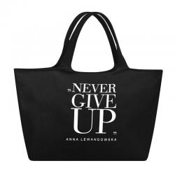 Torba uniwersalna Never give up! (czarna) - HPBA