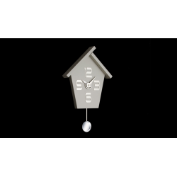 Zegar ścienny Aicon Pendolo 099 MGR (Szary) - Incantesimo Design