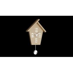 Zegar ścienny Aicon Pendolo 099 MT (Beż) - Incantesimo