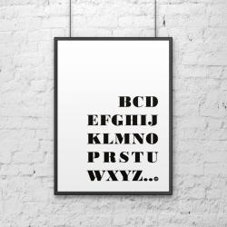 Plakat dekoracyjny 50x70 cm BCD... czarny - DekoSign