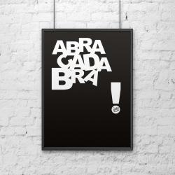 Plakat dekoracyjny 50x70 cm ABRACADABRA czarny - DekoSign