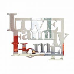 Lustro dekoracyjne LOVE FAMILY HOME plexi - DekoSign