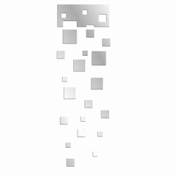 Lustro dekoracyjne SQUARES SET plexi - DekoSign