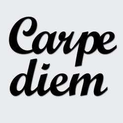 Napis na ścianę CARPE DIEM czarny - DekoSign
